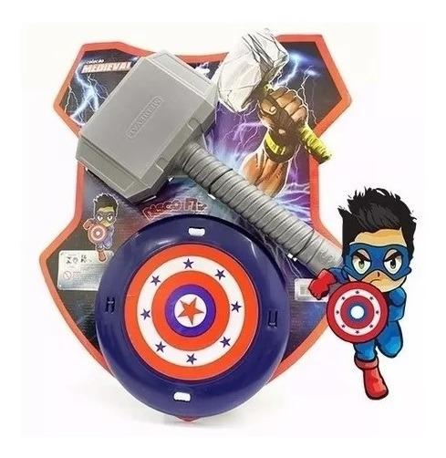 Escudo Brinquedo Heróis Com Martelo De Meninos Oferta