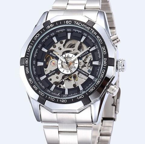 Relógio, Winner,luxo, Transparente,eskeleton, Top.
