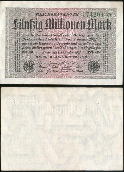 Spg Billete Alemania 50 Millones De Marcos 1923 Pick 109