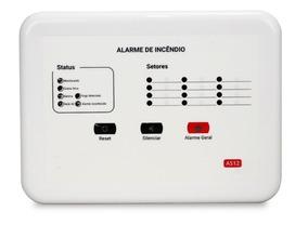 Central De Alarme De Incêndio Convencional 12v 12 Setores