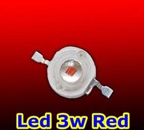 10 Unidades Led Chip 3w Vermelho 610-625nm Barato