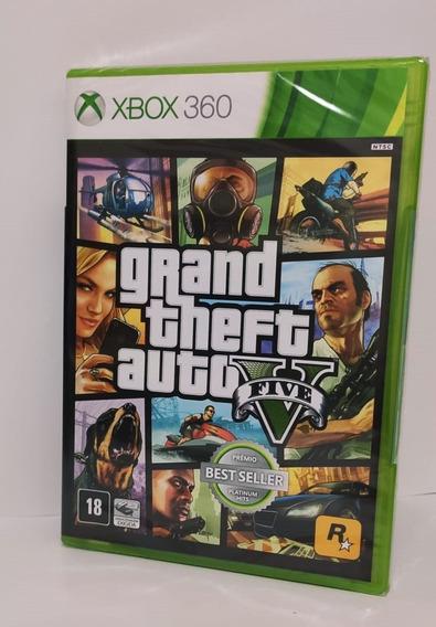 Jogo Gta Xbox V 360 Original 2 Cds + Mapa Original Lacrado