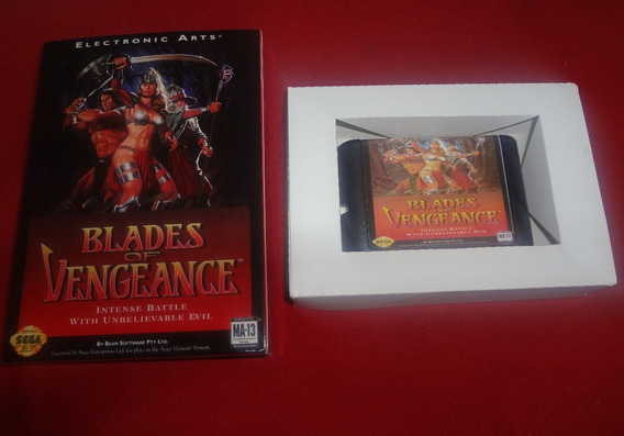 Blades Of Vengeance Mega Drive + Caixa (paralelo Novo)