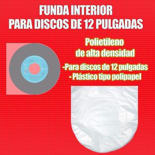 100 Fundas Interiores De Plástico Para Discos Lp