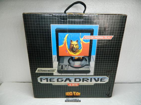 Mega Drive 1 Pronto Jogar Caixa Manual Isopor Jogo Controle