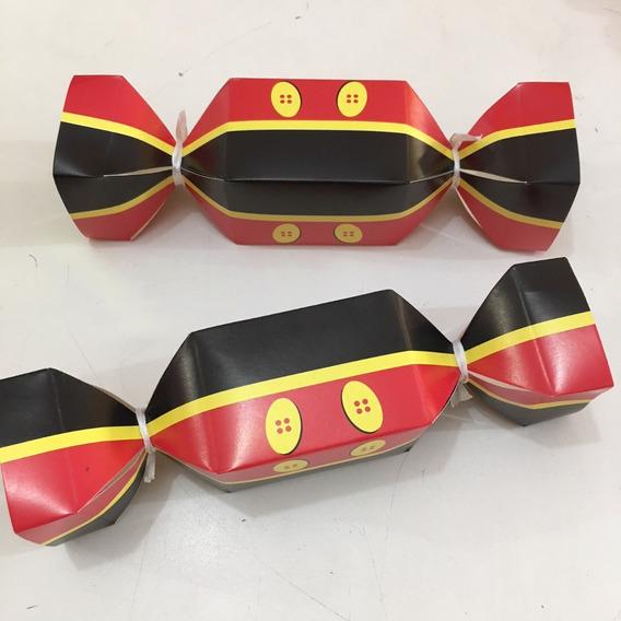 Caixa Bala Mickey 20 Unidades Lembrancinha