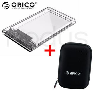 2 X Orico Cofre Usb 3.0 Clear Hdd/ssd 2.5 + Estuche