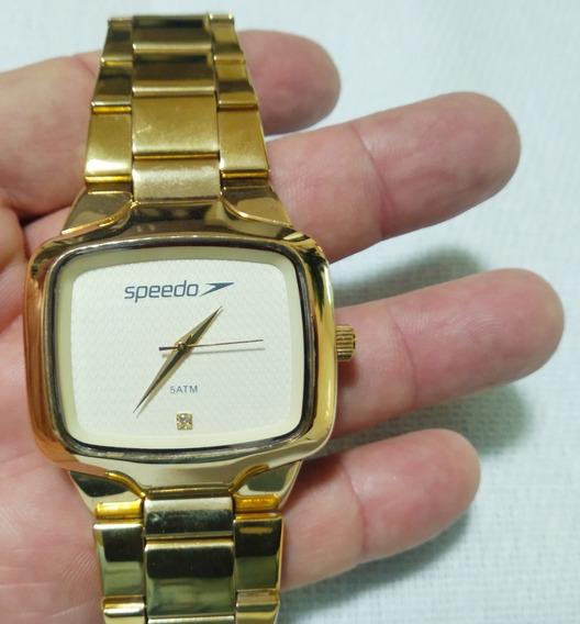 Relógio Speedo Dourado Lindo Grande Pouco Uso Veja Fotos