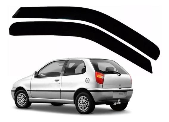 Kit Calha Defletor De Chuva Fiat Palio 1996 À 2016 02 Portas