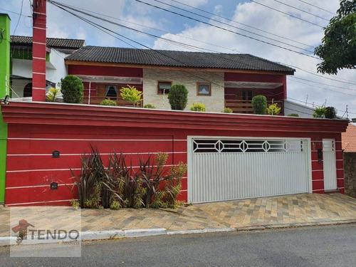 Imagem 1 de 30 de Imob01 - Sobrado 450 M² - 4 Dormitórios - 3 Suítes - Independência - São Bernardo Do Campo/sp - So0235