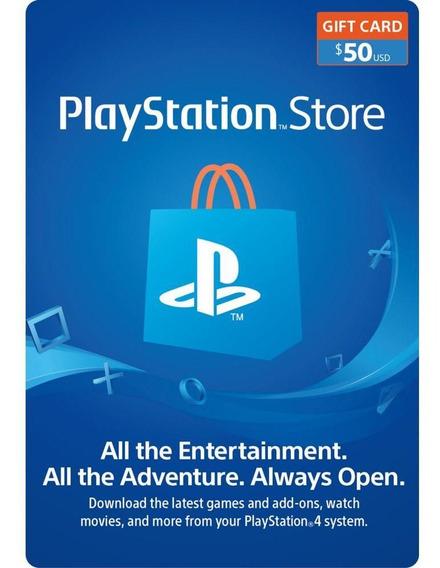 Tarjeta Playstation Network Código Digital Usa $50