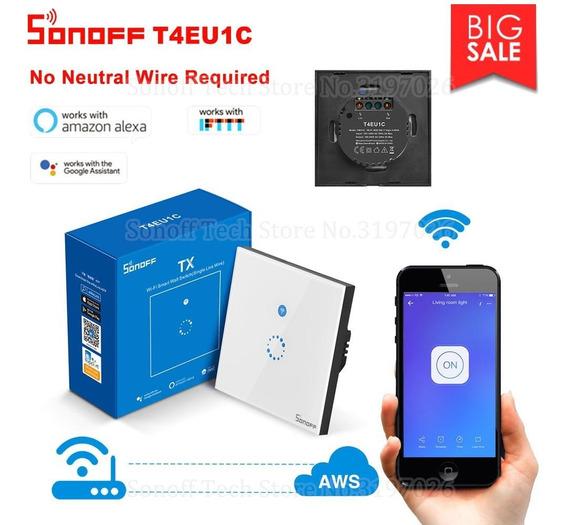 Interruptor Táctil Inteligente Wifi De Pared Itead Sonoff T4