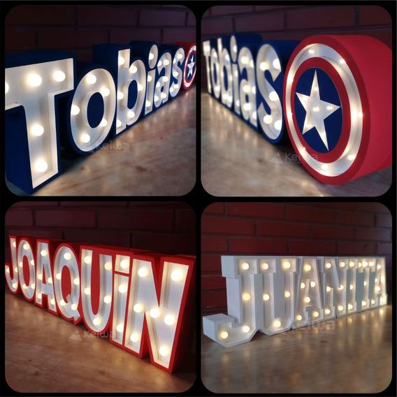 Nombre Cartel Luminoso 8 Letras Led Polifan Eventos Candybar