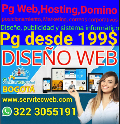 Diseño De Pagina Web, Hosting,dominio,marketing