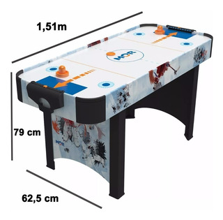 Jogo Mesa De Disco Air Hockey Rush Ideal P/ Casa E Bares Mor