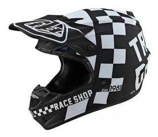 Casco Troy Lee Designs Se4 Polyacrylite Checker Black/white