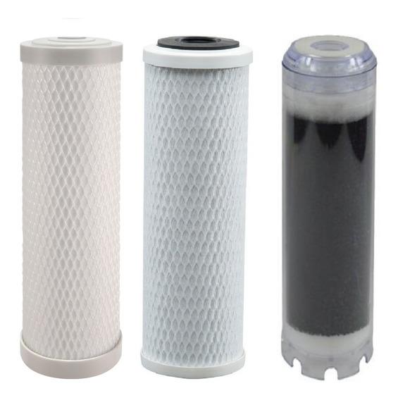 Kit Triplo Refis Para Filtração Purificação Decloração Água