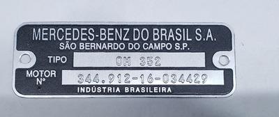 Plaquetas / Motor Mercedes Benz Om 314,om 352,om 366,om 457
