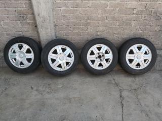 Rines 14 Originales Aluminio Astra 4 Birlos C/llantas