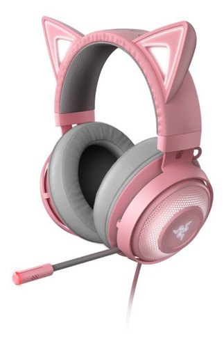 Headset Gamer Razer Kraken Kitty Chroma Quartz
