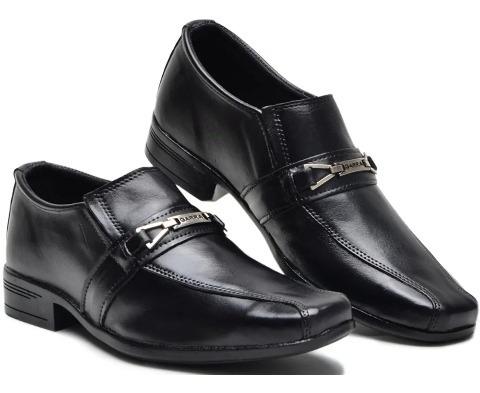 Sapatos Social Preto Kit Com 12 Pares. Atacado