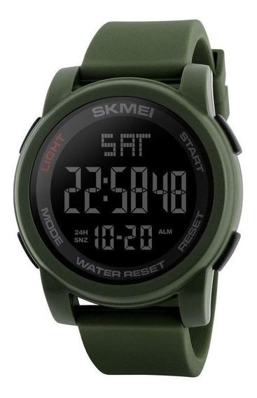 Relógio Masculino Skmei 1257 Digital Garantia Verde Silicone