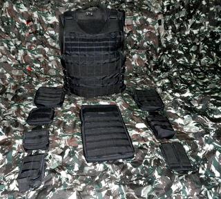 Colete Modular Preto Completo - Tamanho M - Cia Militar