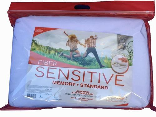 Almohada Sensitive Standard Fiberbal Viscolestica + Funda