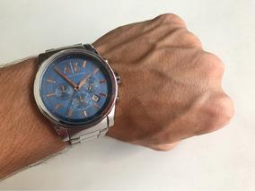 Relógio Armani Exchange Original Em Aço Inox Modelo Ax2085