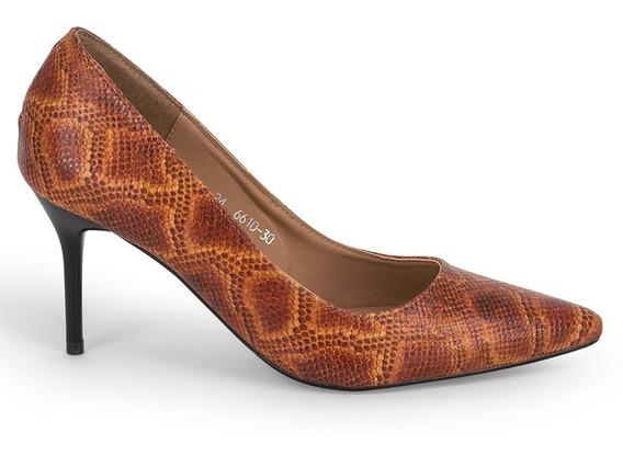 Zapatillas Zapatos Dama Animal Print Tacon Aguja 9101