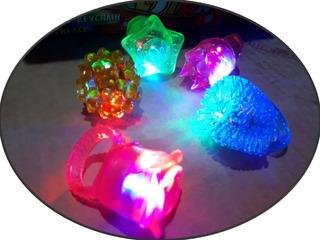 100 Anillos Luz + 115 Collar Luz Led Luminoso Paquete Niño