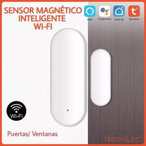 Imagen 1 de 2 de Sensor Magnético Wifi Puerta Ventana Tuya Smart Al X Mayor