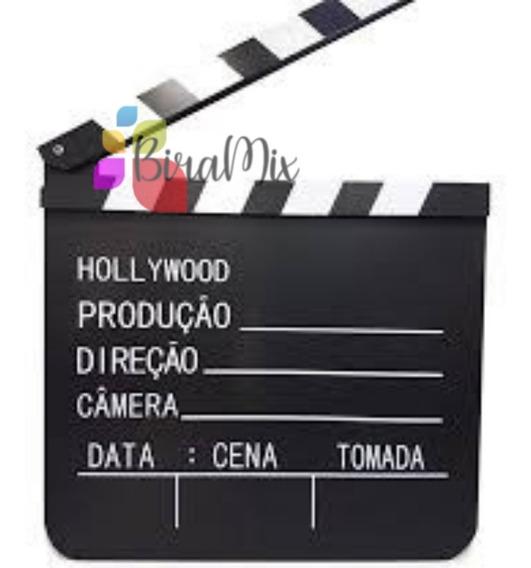 Claquete De Cinema Para Filmagens E Decoração 18cm X 20cm