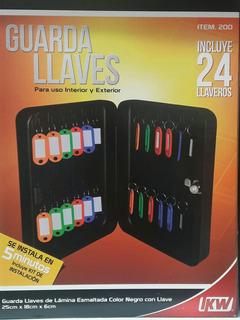 Gabinete Para Llaves Con 24 Llaveros + 50 Llaveros Extras