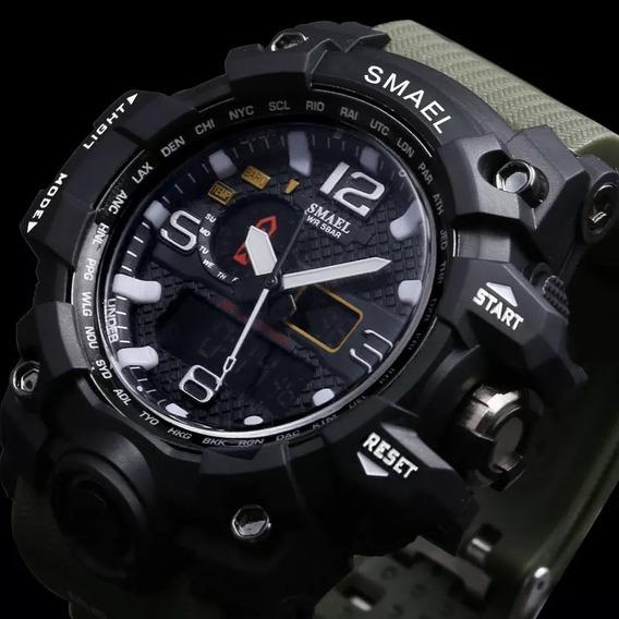 Relógio Smael 1545 Militar Esportivo Digital À Prova D
