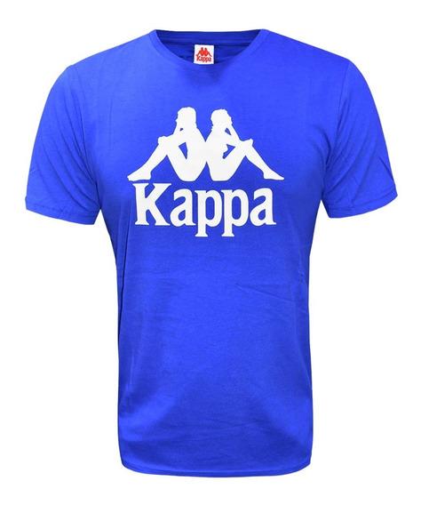 Remera Kappa Estessi Slim Moda Original Azul