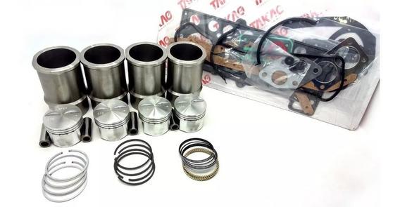 Kit Motor Cht 1000 1.0 Gasolina Pistão Camisa Anel Junta Gol
