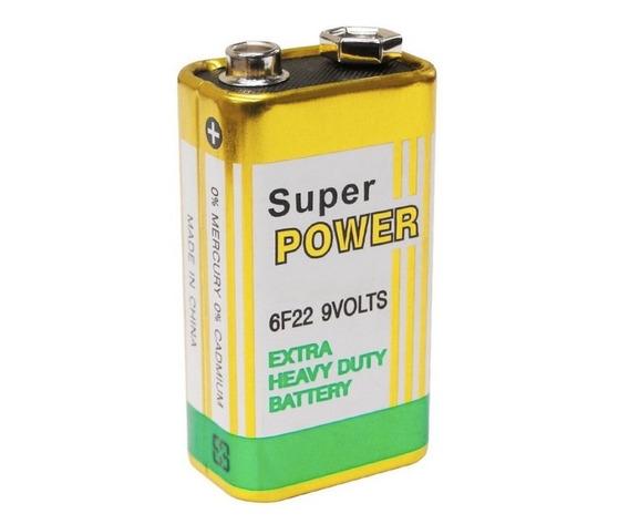 10 Bateria 9v 6f22 Longa Duração - Super Power