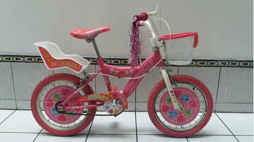 Imagen 1 de 7 de Bicicleta Para Niña Minnie