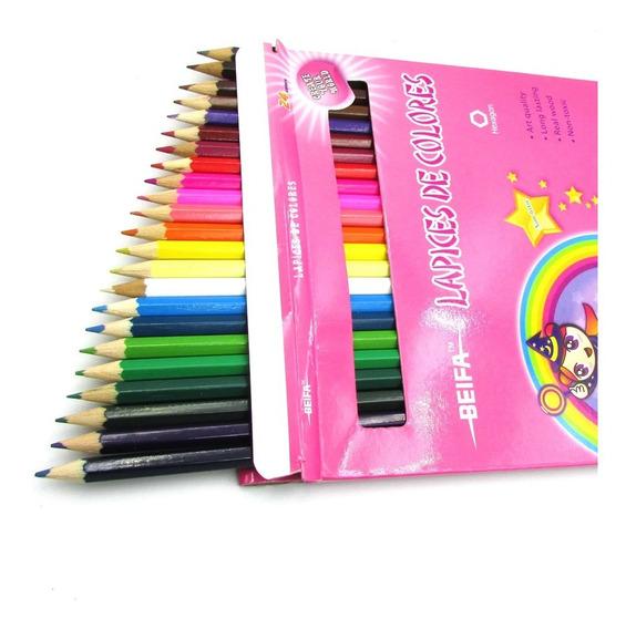 Lapiz Lapices Beifa Color Caja X24 Colores Largos 18 Cm