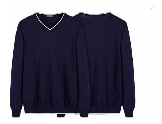 Blusa Suéter Masculino Decote V Varias Cores Lindas