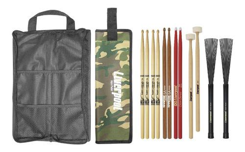 Kit Bag Com01 + Set De Baquetas Diversas Liverpool