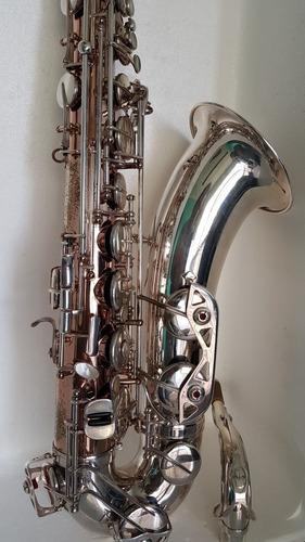 Imagem 1 de 8 de Sax Tenor Borgani Special Edition, Ouro Rose Com Prata