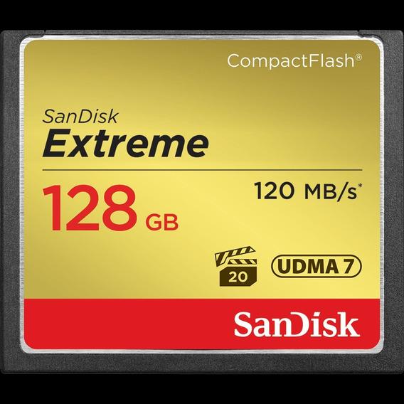 Cartão Memória 128gb Compact Flash Sandisk Cf Extreme 120mbs