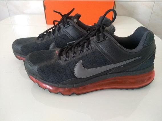 Tênis Nike Air Max 2013 Leather - Preto E Vermelho