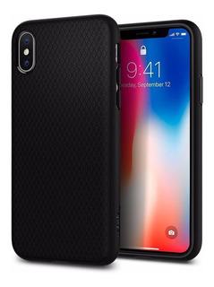 Funda iPhone XS Negro Case Protector Spigen Liquid Armor