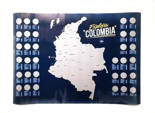 Mapa De Colombia Y Mapa De Antioquia Combo Para Raspar