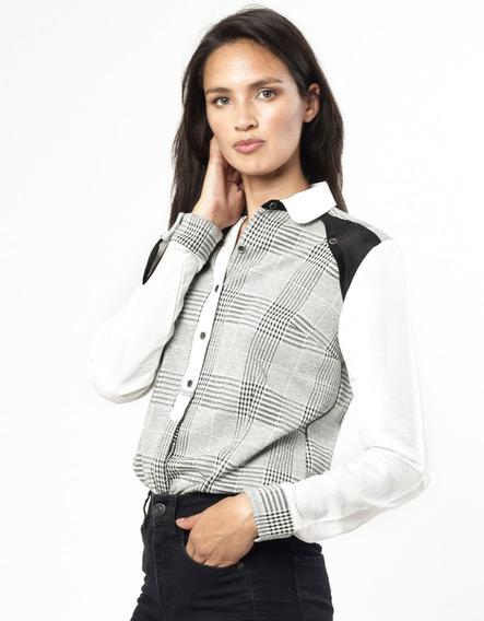 Camisa Elastizada Principe De Gales Giacca