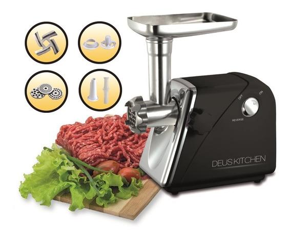 Molino Carne Electrico Con Embutidor Kubbe Longaniza Negro Deus Kitchen