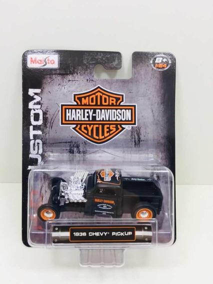Miniatura Chevy Pick-up 1936 Harley-davidson Maisto 1/64